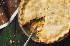 A twist on traditional pot pie, this Zippy Turkey Pot Pie uses leftover turkey in place of chicken.  Using a refrigerated pie crust makes it even easier!