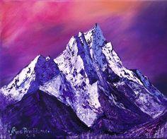 Nepal mountains by Nino Ponditerra Mountain Art, Mountain Landscape, Franco Suisse, Digital Prints, Digital Art, Mountain Paintings, Cecile, Beautiful Paintings, Original Paintings