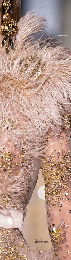 Couture Details, Fashion Details, Couture Fashion, Runway Fashion, Feather Fashion, Elie Saab Couture, Ellie Saab, Embroidery Dress, Pink And Gold