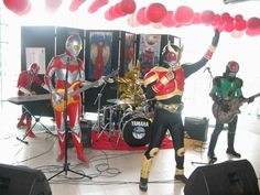 Superhero Band... Kamen Rider Kuuga, RX, Super Sentai Shinken Red, Ultraman and Garo... :D