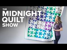 Angela is back! In addition to quilting an amazing half-square triangle quilt by Monique Dillard, she's also announcing something HUGE! Strip Quilts, Easy Quilts, Mini Quilts, Quilt Blocks, Star Blocks, Scrappy Quilts, Half Square Triangle Quilts Pattern, Half Square Triangles, Quilting Tutorials