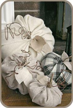 Polka Dot Bungalow: Fabric Pumpkin Tutorial