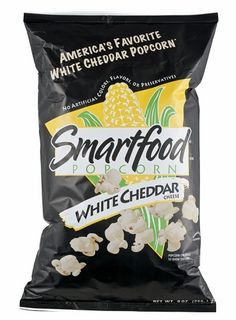 Smartfood Popcorn, White Cheddar Popcorn (Party Size) (Pack of oz / each White Cheddar Popcorn, Cheese Popcorn, White Cheddar Cheese, Smartfood Popcorn, Cheese Cultures, Frito Lay, Milk Ingredients, Cheese Party, Gastronomia