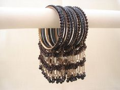 Chooriyan....Bangles Thread Bangles, Silver Bracelets, Bangle Bracelets, Healing Bracelets, Bangle Set, Antique Jewellery Designs, Gold Earrings Designs, Bridal Bangles, Hand Jewelry