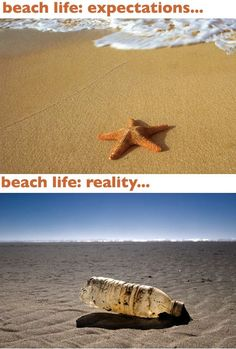 Beach Life - Expectations vs. Reality: This Is What It Really Looks Like