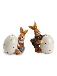 """Set 3"""" Ceramic Easter Decor Dress Up Bunny Rabbit Egg Salt and Pepper Shakers by American Chateau. $11.99. Color: Multicolor. Size: 3.7"""" H x 3"""" L x 2"""" W. You get 1 Set. Material: CERAMIC. Color: Multicolor; Material: CERAMIC; Size: 3 2/3"""" H x 3"""" L x 2"""" W; You get 1 Set"""