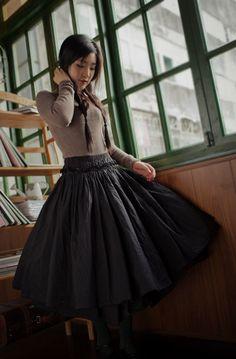 Tulle Skirt Tea length Tutu Skirt Elastic Waist tulle tutu Princess Skirt Wedding Skirt in Black on Etsy, $89.83 CAD