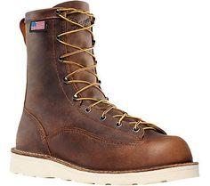 Danner Men's Bull Run 8' Cristy Brown Full Grain Leather Size 11.5 2E, Size