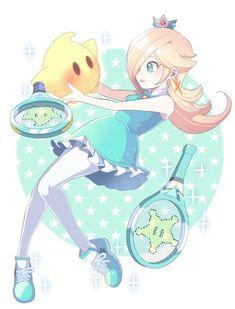 Rosalina and Luma, Tennis Partners Super Mario Bros, Super Mario Kunst, Super Mario Brothers, Super Smash Bros, Super Mario Princess, Nintendo Princess, Mario And Luigi, Mario Kart, Pokemon