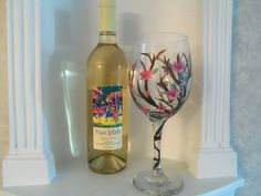 Hand Painted Wine Glass Wine Glass For the by YouniquelyElegant