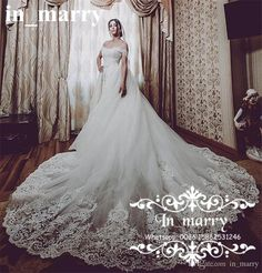 Romantic Vintage Lace Mermaid Overskirts Wedding Dresses with Detachable Train 2017 Off Shoulder Trumpet Style Plus Size Country Bridal Gown 2017 Wedding Dresses Plus Size Wedding Dresses Arabic Wedding Dresses Online with $312.5/Piece on In_marry's Store | DHgate.com