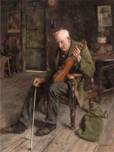 Spencelayh, Charles (b,1865)- La Mémoire Défaillante (Music Forgotten)