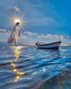 Jesus walks on water – Rea Lakwatsera Pictures Of Jesus Christ, Religious Pictures, Jesus Mother, God Jesus, Angel Pictures, Nature Pictures, Lds Pictures, Face Pictures, Jesus Walk On Water