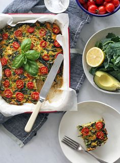 My summer garden is absolutely overflowing with greens, tomatoes and zucchini at the moment. This simple midweek meal is a yummy and nutritious way to use up all that goodness. Perfect for a simple supper or as part of a packed lunch. Customise to include whatever extra vegetables you have on hand.