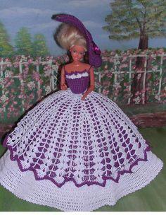 Crochet moda muñeca Barbie patrón - #234 LADY CAROLINE