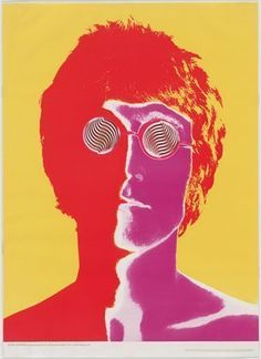 John Lennon / 1967 / Richard Avedon / offset lithograph / MoMa.  I rescued this poster off the basement wall of my grandparent's house. It has soot from the fireplace and pinholes in it from being pinned up, but it's from when it was issued in a magazine. I love it. @Maryann S hydinger