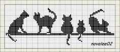 cuadros de gatos a punto de cruz - Buscar con Google