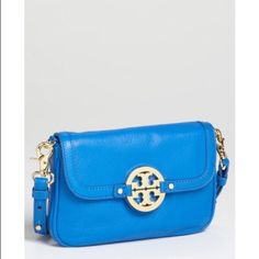 Tory Burch Amanda Crossbody Bag Surf Blue Sold out everywhere online and in stores. Color is 'Surf Blue.' Used 2x maximum, mint condition. 100% Authentic. Tory Burch Bags