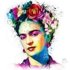 Frida Kahlo Canvas Artwork by Patrice Murciano Frida Kahlo Artwork, Frida Kahlo Exhibit, Diego Rivera Frida Kahlo, Kahlo Paintings, Frida Kahlo Portraits, Frida Art, Canvas Artwork, Canvas Art Prints, Lino Prints
