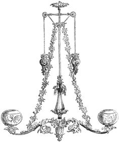 Chandelier clipart etc this chandelier is a german design it is gas chandelier clipart etc this gas chandelier is richly ornamented with a naturalistic aloadofball Images