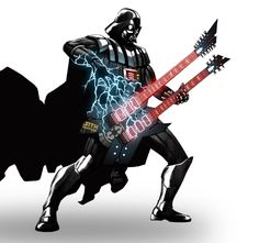 What's more awesome than Darth Vader playing the guitar?
