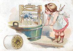 J.P Coats - cute print for laundry room
