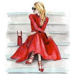 Glamorous Fashion Sketches and Illustrations: Best 50 - Glamour Lifestyle Fashion Art, Girl Fashion, Trendy Fashion, Fashion Ideas, Space Fashion, Affordable Fashion, Dress Fashion, Fashion Women, Mode Poster