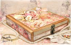 """Altered cigar box - using Prima/Frank Garcia collection """"Tales of You & Me""""...DIY home decor- full directions on my blog"""