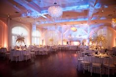 Belle Mer Salon. Water texture lighting. Newport Rhode Island Wedding Planner: Donna Kim of ThePerfectDetails.com / Photo: Kristin Spencer Photography