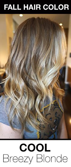 Cool, Ash Blonde Ombre! The perfect fall hair color trend for blondes looking to go a tad darker in fall!