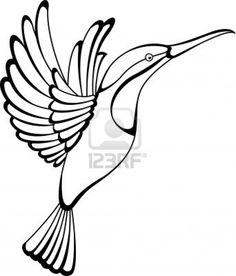 Illustration - hummingbird tattoo