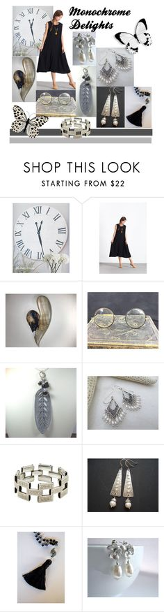 """Monochrome Deligths"" by inspiredbyten ❤ liked on Polyvore"