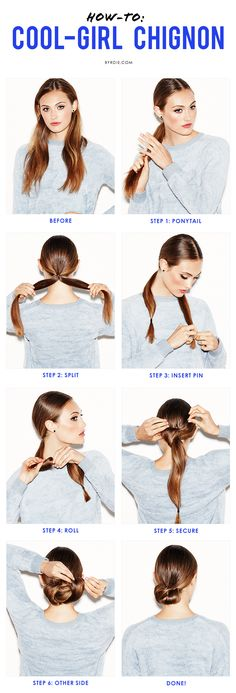 master the low chignon
