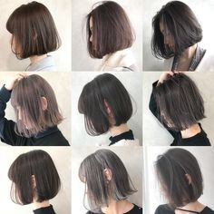 Pin on ヘア Pelo Ulzzang, Ulzzang Hair, How To Curl Short Hair, Girl Short Hair, Medium Hair Cuts, Short Hair Cuts, Short Hair Korean Style, Shoulder Length Hair, Hairstyles Haircuts