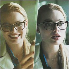 Dr. Quinzel <3  I have these exact same pair of Versace glasses but in purple