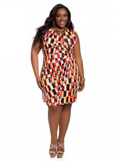 Ashley Stewart Women's Plus Size Sleeveless Abstract Print Dress --- http://www.amazon.com/Ashley-Stewart-Womens-Sleeveless-Abstract/dp/B00D45PNIC/?tag=thebost0e-20