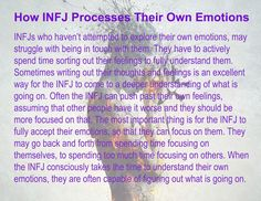 How INFJ Processes Their Own Emotions