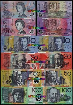 Australia banknotes - Australia paper money catalog and Australian currency history Money Worksheets, Postage Stamps, Kids Learning, Catalog, Coins, Baseball Cards, History, Paper, Heavenly