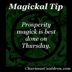 Magickal Tip - Prosperous Thursday – Charissa's Cauldron