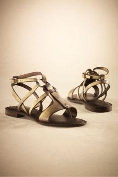 Hera Sandals - Modern Greek Sandal, Padded Sandal, Adjustable Thong Sandal | Soft Surroundings
