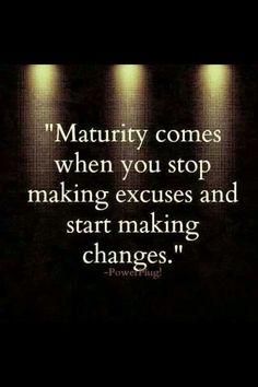 Maturity!
