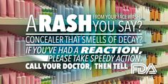 Bad Reaction to #Cosmetics? Tell FDA! #NWHW