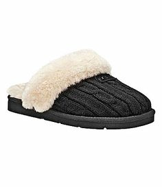 UGG Australia Womens Cozy Knit Slippers #Dillards  I want these in grey for Christmas(: