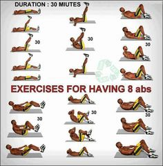 Exercises For Having 8 Abs - Healthy Fitness Workout Sixpack Ab