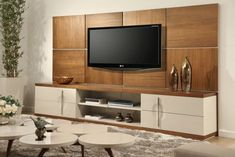 I invite you to see stunning TV panel designs to delight you. Find and save ideas for your own home. Tv Cabinet Design, Tv Unit Design, Tv Wall Design, Rack Tv Sala, Tv Rack, Modern Tv Wall Units, Tv Panel, Muebles Living, Tv Wall Decor
