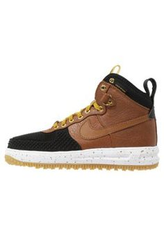LUNAR FORCE  - Sneaker high - black/lt British Tan-gold dart-white