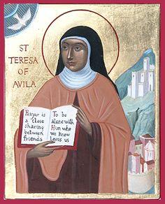 SANTOS E SANTAS DE DEUS NAS APARIÇÕES DE JACAREÍ: 15 de outubro - Dia de Santa Teresa d'Ávila