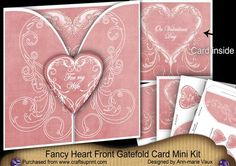 Pink Valentine For my Wife 3D Gatefold Heart Mini Kit by Ann-marie Vaux This kit makes a 3D Heart Gatefold Card with a fabulous sentiment on the inside & on the heart front. It is pretty, easy to make and not overly fussy. This kit makes 1 complete gatefold card in 8x8inches in size with lots of labels and tag hearts left over for gifts.. You get 4 sheets in the mini kit, to make 1 card as it is a large one and needs all the bits. I am sure you will be thrilled with how to makes and once…