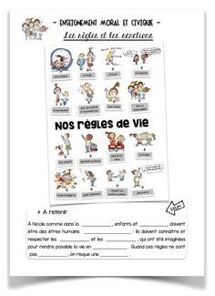 Voici un diaporama, une leçon et un poster consacrés aux règles de vie dans la classe. Celles-ci sont illustrées par Max et Lili.
