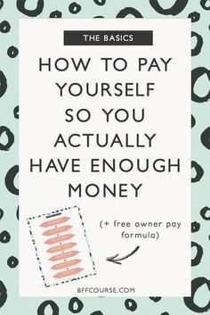 Owner Pay| How to Pay Yourself| Self-Employed| Solopreneur| Small Business| Financial Tips| Small Biz  via @bffcourse